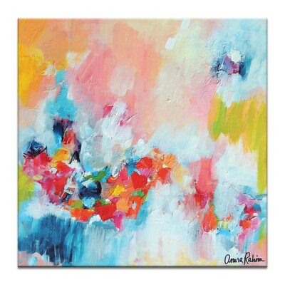 Artist Lane 'Chasing waterfalls' by Amira Rahim Art Print on Wrapped Canvas