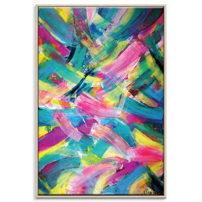 Artist Lane 'Springlayers' by Sabina Klein Framed Art Print on Wrapped Canvas