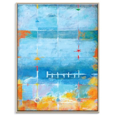 Artist Lane 'North South Drift' by Alan Annells Art Print Wrapped on Canvas