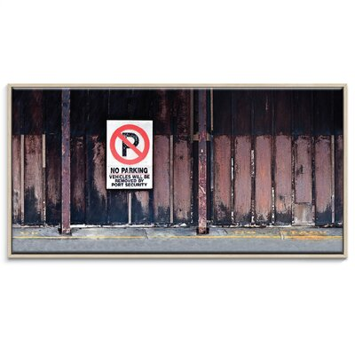 Artist Lane 'No Parking' by Bente Andermahr Graphic Art Wrapped on Canvas