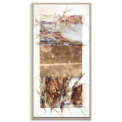 Artist Lane 'Paper Screen 6' by Gill Cohn Framed Art Print on Wrapped Canvas
