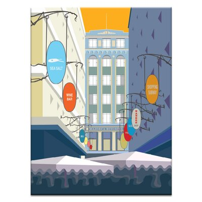 Artist Lane 'Majorca Building' by Alan Annells Graphic Art on Wrapped Canvas