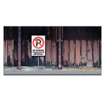 Artist Lane 'No Parking' by Bente Andermahr Graphic Art on Wrapped Canvas