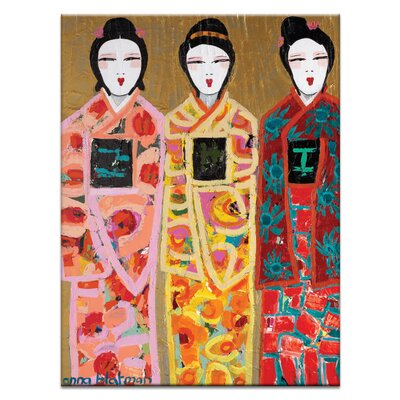 Artist Lane 'Lee Li Lo' by Anna Blatman Art Print Wrapped on Canvas