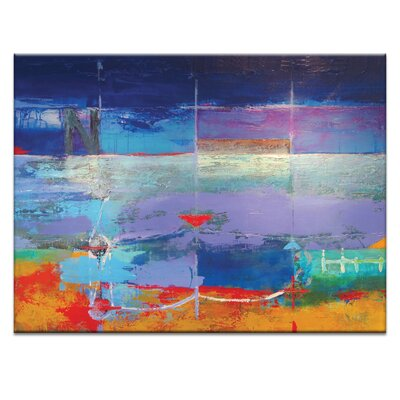 Artist Lane 'North South Drift #2' by Alan Annells Art Print on Wrapped Canvas