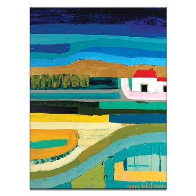 Artist Lane 'Red Hill' by Anna Blatman Art Print Wrapped on Canvas