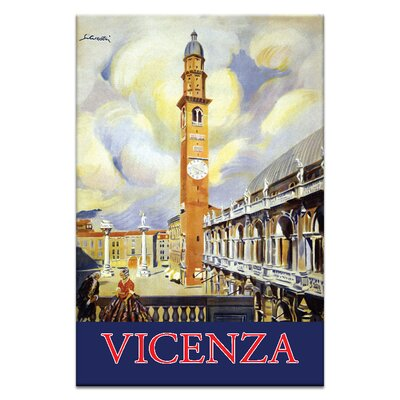 Artist Lane Vicenza' Art Print Unwrapped on Canvas