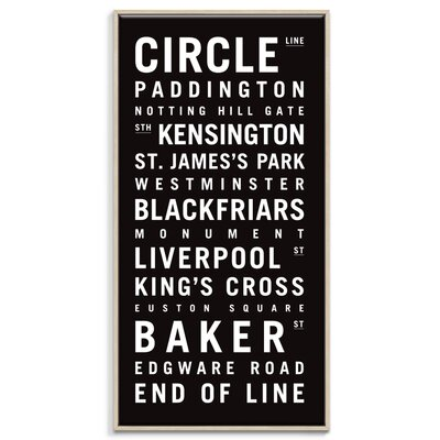 Artist Lane 'The Tube' by Tram Scrolls Framed Typography on Wrapped Canvas