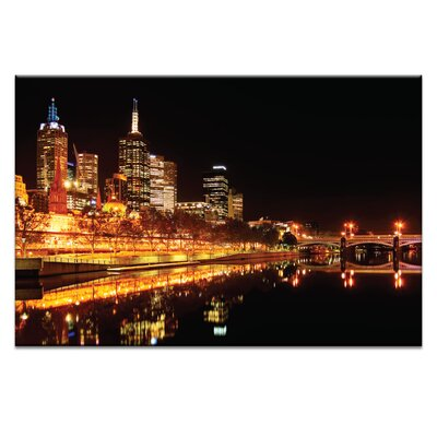 Artist Lane 'City Glow' by Andrew Paranavitana Photographic Print Wrapped on Canvas
