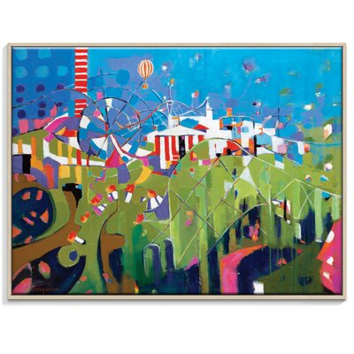 Artist Lane 'A Wonderful World' by Catherine Fitzgerald Framed Art Print on Wrapped Canvas