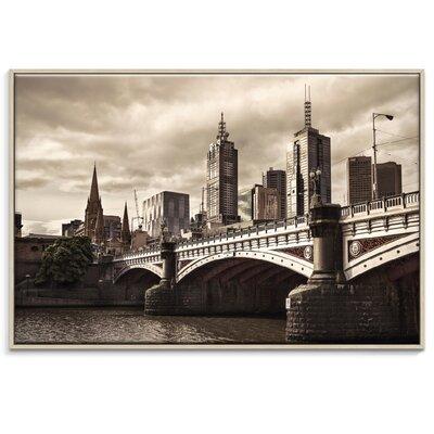 Artist Lane 'Princess Bridge' by Andrew Paranavitana Framed Photographic Print on Wrapped Canvas