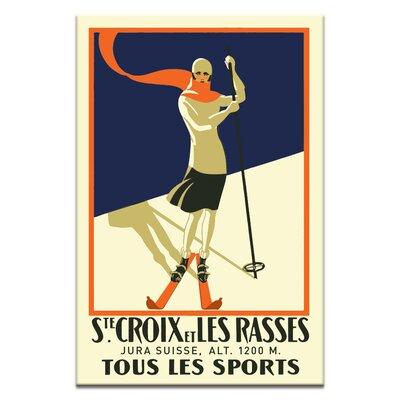 Artist Lane 'Swiss Ski' Vintage Advertisement on Wrapped Canvas