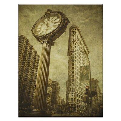 Artist Lane 'Flatiron Clock' by Andrew Paranavitana Photographic Print on Wrapped Canvas