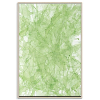 Artist Lane 'Ink Flow 6' by Chalie MacRae Framed Graphic Art on Wrapped Canvas
