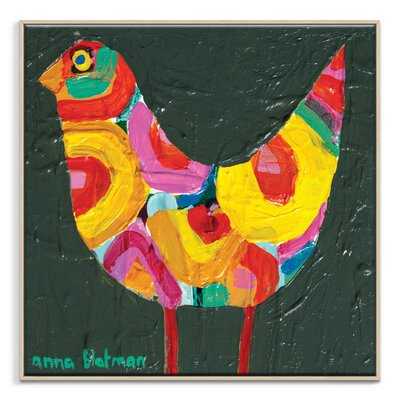 Artist Lane 'Poppy Bird' by Anna Blatman Framed Art Print on Wrapped Canvas