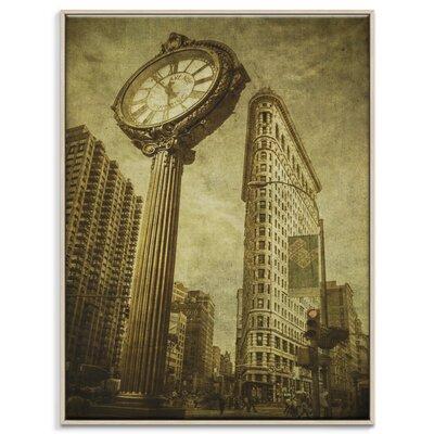 Artist Lane 'Flatiron Clock' by Andrew Paranavitana Photographic Print Wrapped on Canvas