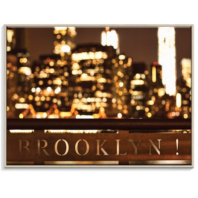 Artist Lane 'Brookyln Bubbly' by Andrew Paranavitana Framed Photographic Print on Wrapped Canvas