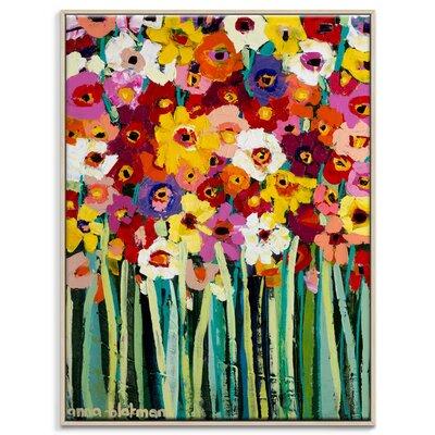 Artist Lane 'Lisa Blooms' by Anna Blatman Framed Art Print on Wrapped Canvas