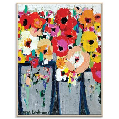 Artist Lane 'Market Day' by Anna Blatman Framed Art Print on Wrapped Canvas