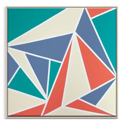 Artist Lane 'Geometric 10' by Chalie MacRae Framed Art Print on Wrapped Canvas