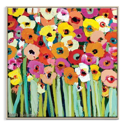 Artist Lane 'Betty's Blooms' by Anna Blatman Framed Art Print on Wrapped Canvas