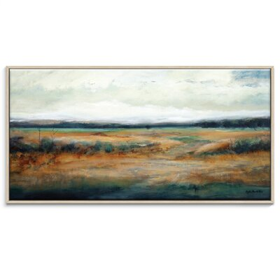 Artist Lane 'Field Rush' by Lydia Ben-Natan Framed Art Print on Wrapped Canvas