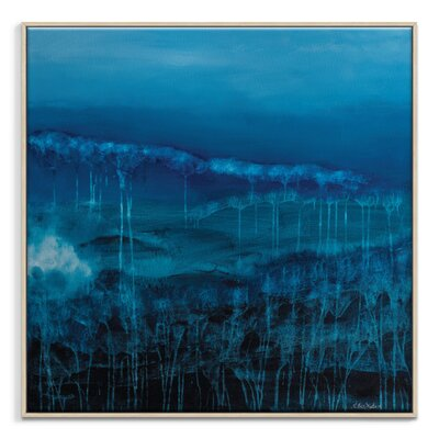 Artist Lane 'Fossil Blues' by Lydia Ben-Natan Framed Art Print on Wrapped Canvas