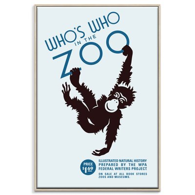 Artist Lane 'Zoo' Framed Vintage Advertisement on Wrapped Canvas