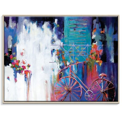 Artist Lane 'Just Visiting' by Catherine Fitzgerald Framed Art Print on Wrapped Canvas