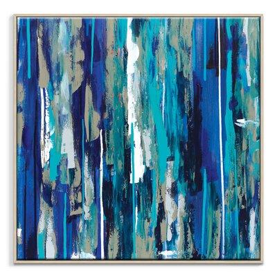 Artist Lane 'Bluehue' by Sabina Klein Framed Art Print on Wrapped Canvas