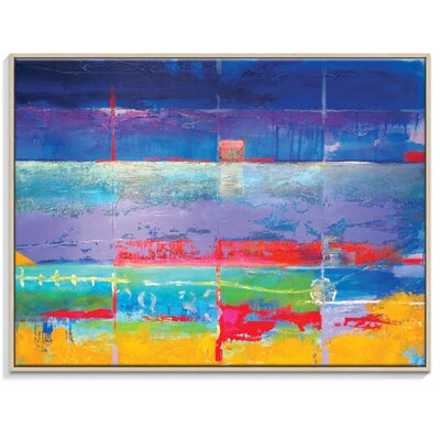 Artist Lane 'North South Drift #1' by Alan Annells Framed Art Print on Wrapped Canvas