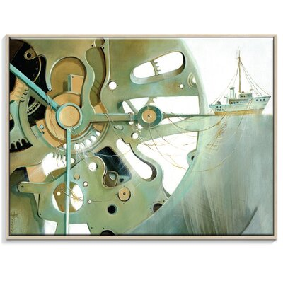 Artist Lane 'Going Clockwise 2' by Olena Kosenko Framed Graphic Art on Wrapped Canvas