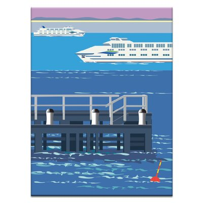 Artist Lane 'Sorrento Crossing' by Alan Annells Graphic Art Wrapped on Canvas