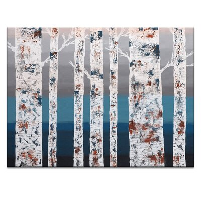 Artist Lane 'Birch at Dusk' by Sherren Comensoli Art Print on Wrapped Canvas