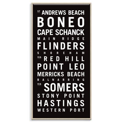 Artist Lane 'Western Port' Framed Typography on Wrapped Canvas