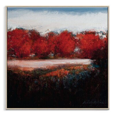 Artist Lane 'Autum Show' by Lydia Ben-Natan Framed Art Print on Wrapped Canvas
