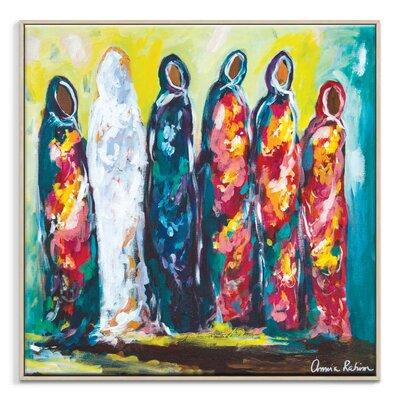 Artist Lane 'The Wedding' by Amira Rahim Framed Art Print on Wrapped Canvas