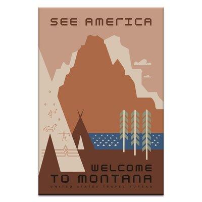 Artist Lane 'Montana' Vintage Advertisement on Wrapped Canvas