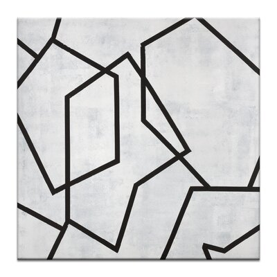 Artist Lane 'Geometric 5' by Chalie MacRae Graphic Art on Wrapped Canvas