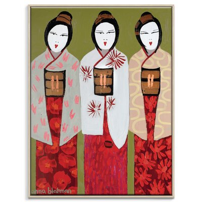Artist Lane 'We Three-1' by Anna Blatman Framed Art Print on Wrapped Canvas
