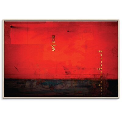 Artist Lane '14m Watermark' by Bente Andermahr Framed Graphic Art on Wrapped Canvas