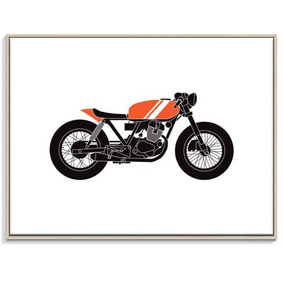 Artist Lane 'cafe racer 1' by Ayarti Framed Graphic Art on Wrapped Canvas