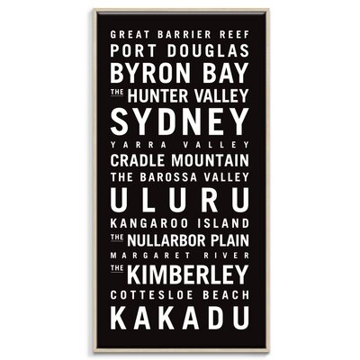 Artist Lane 'Australia' by Tram Scrolls Framed Typography on Wrapped Canvas