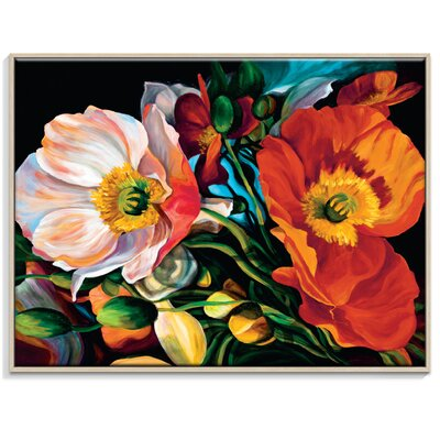 Artist Lane 'Sceaming Poppies 2' by Shani Alexander Framed Art Print on Wrapped Canvas