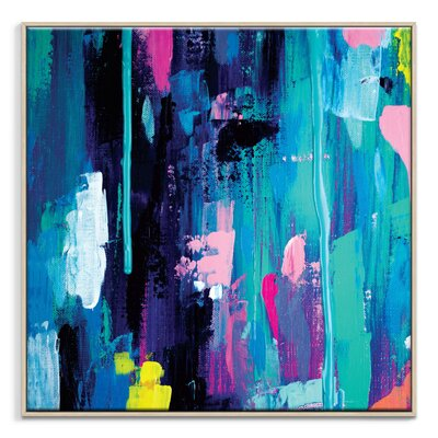 Artist Lane 'Springrain 2' by Sabina Klein Framed Art Print on Wrapped Canvas