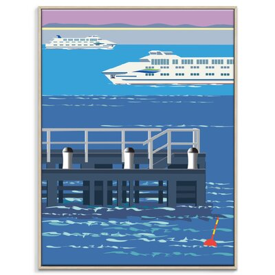 Artist Lane 'Sorrento Crossing' by Alan Annells Framed Graphic Art on Wrapped Canvas