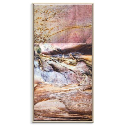 Artist Lane 'Paper Screen 7' by Gill Cohn Framed Art Print on Wrapped Canvas