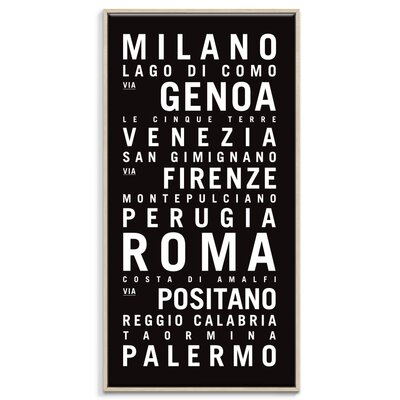 Artist Lane 'Italy' by Tram Scrolls Framed Typography on Wrapped Canvas