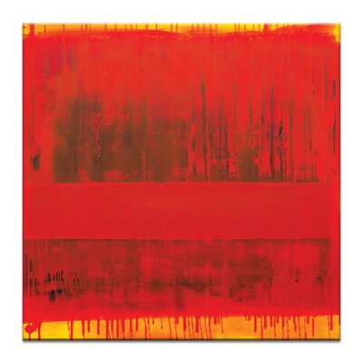Artist Lane 'Red Centre' by Alan Annells Art Print Wrapped on Canvas