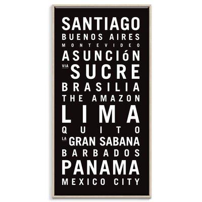 Artist Lane South America' by Tram Scrolls Art Print Unwrapped on Canvas